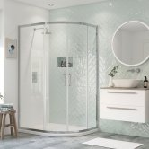 Signature Inca6 Double Door Offset Quadrant Shower Enclosure 1000mm x 800mm - 8mm Glass