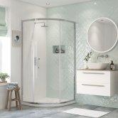 Signature Inca6 Single Door Quadrant Shower Enclosure 800mm x 800mm - 8mm Glass