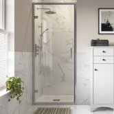 Signature Inca8 Hinged Shower Door 800mm Wide - 8mm Glass
