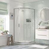 Signature Inca6 Double Door Quadrant Shower Enclosure 800mm x 800mm - 8mm Glass