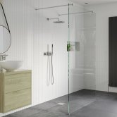 Signature Inca8 Walk-In Shower Panel 1200mm Wide - 8mm Glass