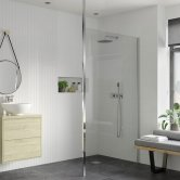 Signature Inca8 Wet Room Screen and Floor to Ceiling Pole 500mm Wide - 8mm Glass