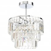 Signature 3 Light Chandelier - Chrome