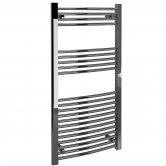 Signature Curved Heated Towel Rail 1200mm High x 600mm Wide - Chrome