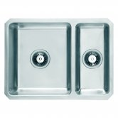 Signature Prima 1.5 Bowl Undermount Kitchen Sink with Waste Kit 600 L x 450 W - Stainless Steel