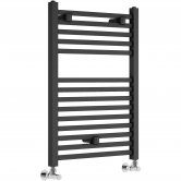 Signature Qubos Square Heated Towel Rail 690mm H x 500mm W - Anthracite