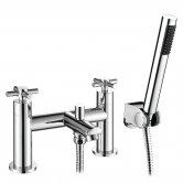 Signature Siena Bath Shower Mixer Tap with Shower Kit - Chrome