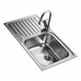 Signature Teka 1.0 Bowl Kitchen Sink LH with Waste Kit 860 L x 500 W - Stainless Steel