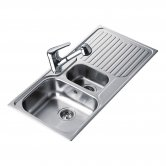 Signature Teka Princess 1.5 Bowl Kitchen Sink with Waste Kit 1000 L x 500 W - Stainless Steel
