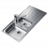 Signature Teka Universo 1.5 Bowl Kitchen Sink with Waste Kit 1000 L x 500 W - Stainless Steel