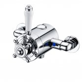 Signature Traditional Thermostatic Concentric Exposed Shower Valve - Stainless Steel