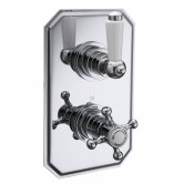 Signature Traditional Thermostatic 1 Outlet Concealed Shower Valve Dual Handle - Chrome
