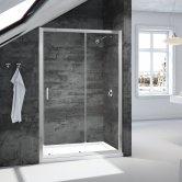 Signature Vibrance Loft Sliding Shower Door 1200mm Wide - 6mm Glass