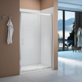 Signature Vibrance Sliding Shower Door 1200mm Wide - 6mm Glass