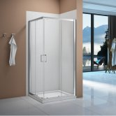 Signature Vibrance Corner Entry Sliding Shower Enclosure 800mm x 800mm - 6mm Glass