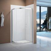 Signature Vibrance Single Door Quadrant Shower Enclosure 1000mm x 1000mm - 6mm Glass