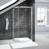 Signature Vibrance Double Door Quadrant Shower Enclosure 800mm x 800mm - 6mm Glass