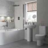 Signature Zeus Bathroom Suite Close Coupled Toilet and Basin 450mm - 1 Tap Hole