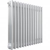 Stelrad Softline Horizontal 3 Column Radiator 500mm H x 858mm W - White