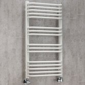 S4H Apsley Heated Towel Rail 1300mm H x 600mm W - White