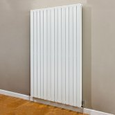 S4H Beaufort Double Vertical Radiator 1820mm H x 540mm W - White