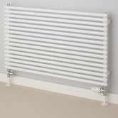 S4H Chaucer Single Horizontal Radiator 402mm H x 920mm W - White
