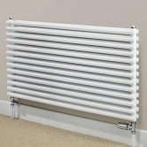 S4H Chaucer Double Horizontal Radiator 402mm H x 920mm W - White