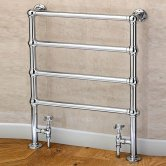 S4H Cleves Floor Mounted Heated Towel Rail 848mm H x 598mm W Chrome