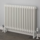 EcoRad Classic 3-Column Horizontal Radiator, 500mm H x 609mm W, White