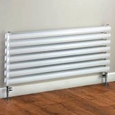 S4H Tallis Double Designer Horizontal Radiator 420mm H x 1020mm W White