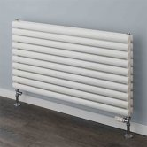 S4H Tallis Double Designer Horizontal Radiator 600mm H x 1000mm W White