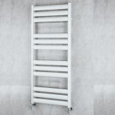 S4H Tallis Straight Heated Ladder Towel Rail 1060mm H x 500mm W - White