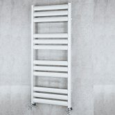 S4H Tallis Straight Heated Ladder Towel Rail 1340mm H x 500mm W - White