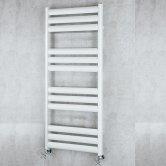 S4H Tallis Straight Heated Ladder Towel Rail 780mm H x 500mm W - White