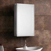 Synergy Aries 1-Door Mirrored Bathroom Cabinet 610mm H x 380mm W - Aluminium