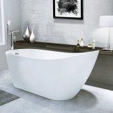 Synergy Arruba Freestanding Slipper Bath 1660mm x 725mm White - 0 Tap Hole