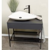 Synergy Berg Floor Standing Console Unit and Jet Basin 600mm Wide - 0 Tap Hole