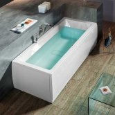 Synergy Berg Rectangular Double Ended Bath 1800mm x 800mm - 0 Tap Hole
