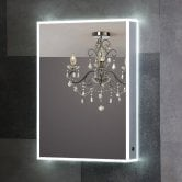 Synergy Berg 1-Door Mirrored Bathroom Cabinet 725mm H x 525mm W - Aluminium