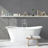 Synergy Boat Double Ended Freestanding Bath 1770mm x 785mm - 0 Tap Hole