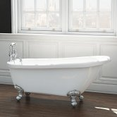 Synergy Brentwood Single Ended Freestanding Slipper Bath 1555mm x 725mm - 0 Tap Hole