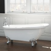 Synergy Brentwood Single Ended Freestanding Slipper Bath 1685mm x 725mm - 0 Tap Hole