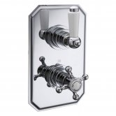 Synergy Henbury Thermostatic Concealed Shower Valve Dual Handle 1 Way Diverter - Chrome