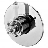 Synergy Henbury Round Concealed Thermostatic Shower Valve Dual Handle - Chrome