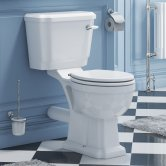 Synergy Henbury Close Coupled Toilet with Lever Cistern - Soft Close Seat