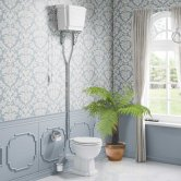 Synergy Henbury High Level Toilet with Pull Chain Cistern - Soft Close Seat