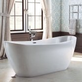 Synergy Ibiza Double Ended Freestanding Slipper Bath 1830mm x 710mm - 0 Tap Hole
