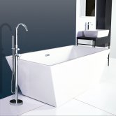 Synergy Lido Double Ended Freestanding Bath 1700mm x 800mm - 0 Tap Hole