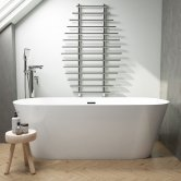 Synergy Lugano Double Ended Freestanding Bath 1700mm x 800mm - 0 Tap Hole