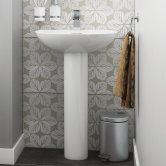 Synergy Lyon Basin and Full Pedestal 550mm Wide - 1 Tap Hole